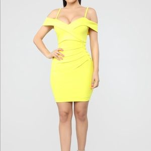 Bring In The Glam Midi Dress - Yellow